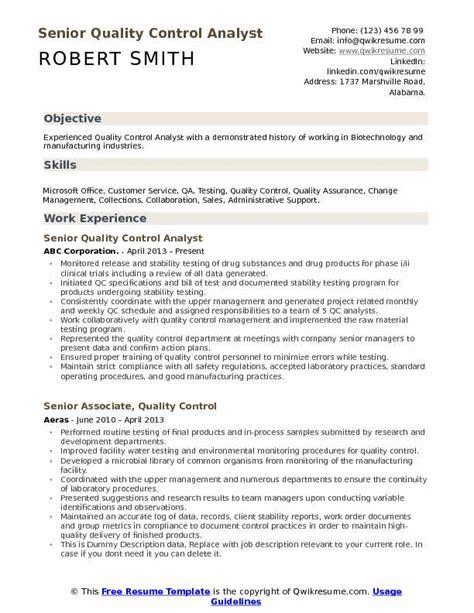 sample qa resumes experience resumes