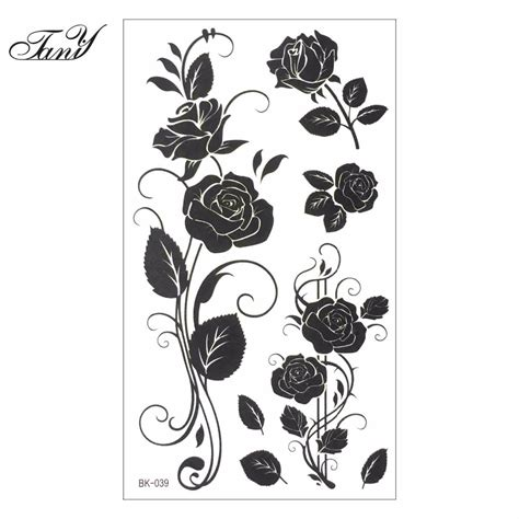 finger tattoo stickers popular white rose tattoo buy cheap white rose tattoo lots