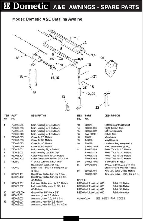 dometic awning parts breakdown pinterest the world s catalog of ideas