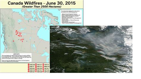 active fire mapping program canadian wildfires and us air quality june 30 2015 psaqfo