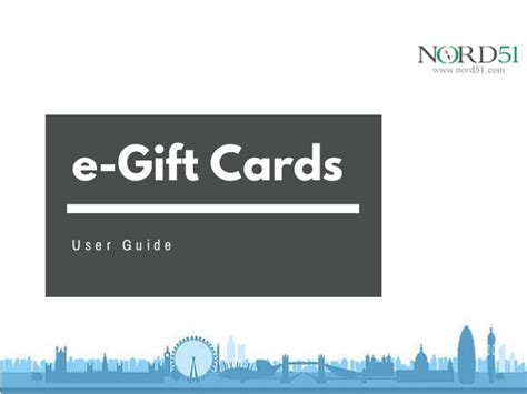 What S An E Gift Card - e gift card user guide nord51