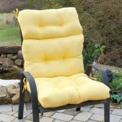 Yellow Patio Furniture by Yellow Microfiber Outdoor Chair Cushion Pad With Height
