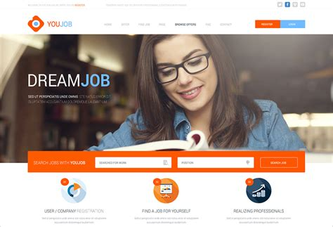 css templates for job website 12 job portal templates creative template creative