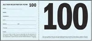 Auction Bid Cards Template by Better Bidders Bid Card Options