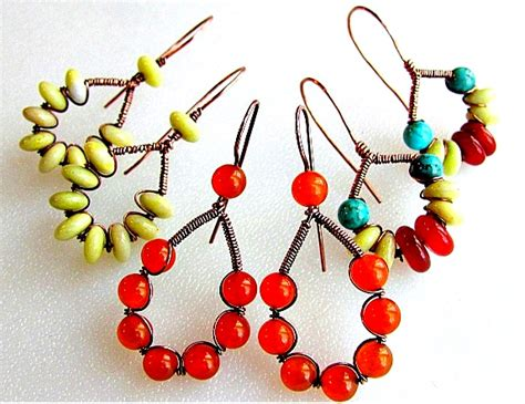 wire and bead wire and bead earring how to a step by step wire earring