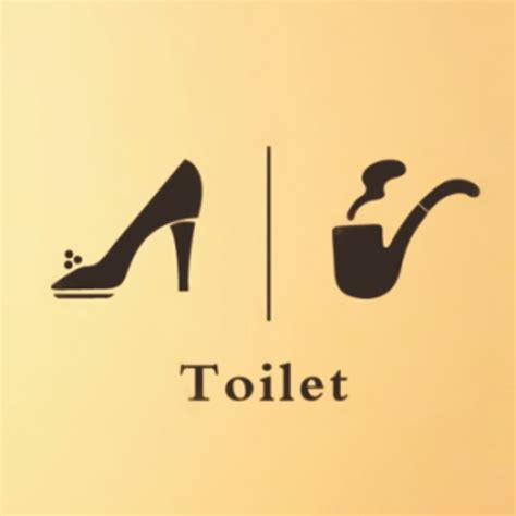 toilet bathroom signs for home environmental pvc pipe heels toilet stickers wall sticker