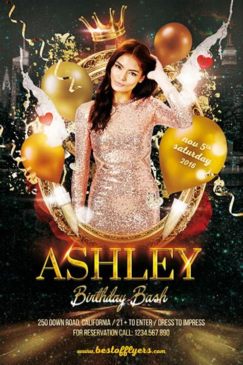 birthday bash party flyer template download birthday