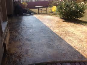 How To Clean Stained Concrete Patio by How To Re Seal A Stained Concrete Patio Youtube