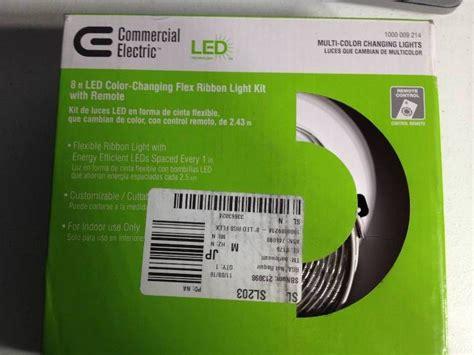 commercial electric led flex ribbon light kit commercial electric 8 ft led color changing flex ribbon