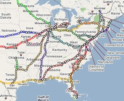 great amtrak route map using maps quod ero spero