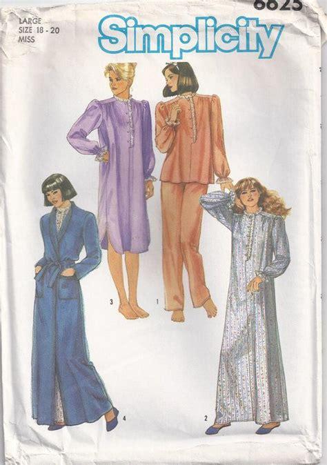 kimono pajama pattern nightgown pajamas robe plus size 18 20 sewing pattern by