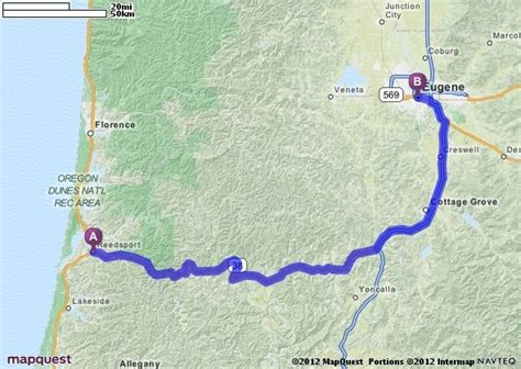 mapquest oregon coast driving directions from reedsport oregon to eugene