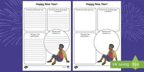 new year story writing frames 2017 new year resolutions writing frames new year new years