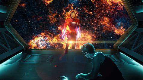 captain marvel tony stark avengers endgame wallpapers