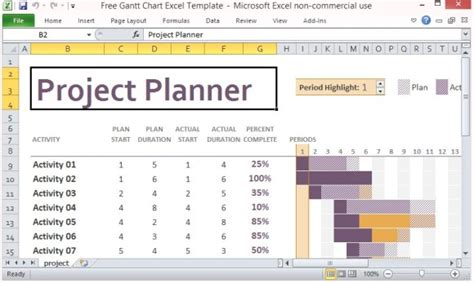 10 Best Gantt Chart Tools Templates For Project Management Project Plan Template Excel Free