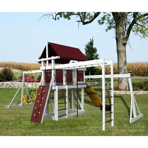 swing set jungle gym amish made jungle gym quest swing set