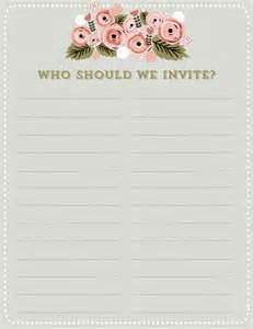 printable wedding guest list worksheet abitlikethis