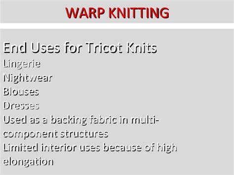warp knitted fabric properties knitting technology