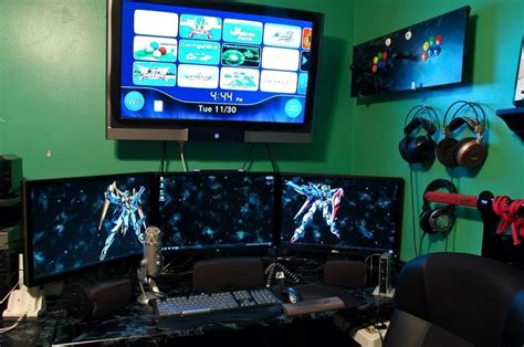 gaming room setup 59 best images about pc workstation gaming setup on