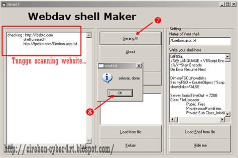 tutorial deface dengan shell cara deface website dengan webdav shell maker hmei7