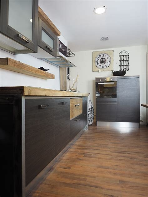 cucine in ferro cucina moderna lineare vero industriale legno e ferro in