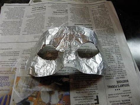 How To Make A Paper Mache Mold - how to make a paper mache mask with a foil mold family