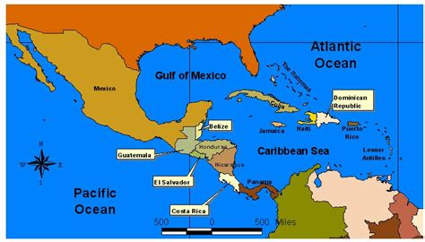 central america the caribbean map central america caribbean map