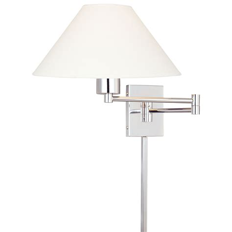 george kovacs boring chrome swing arm wall sconce with