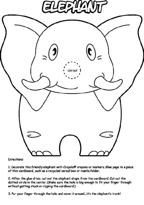 elephant trunk coloring page elephant crayola co uk
