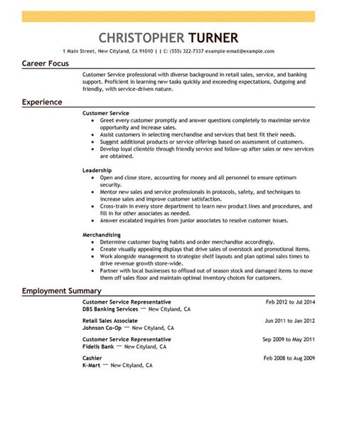 impactful professional customer service resume exles resources myperfectresume