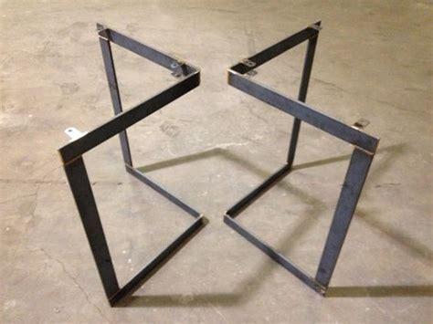 metal frame table base chevron metal table base legs table chevy
