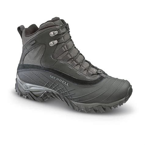 merrell winter boots mens s merrell 174 waterproof isotherm 174 6 quot boots black