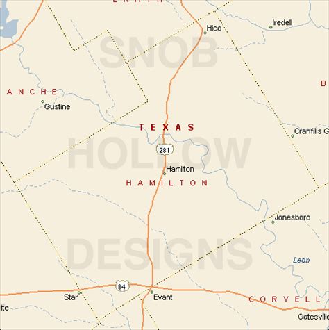 hamilton county texas map hamilton county texas color map