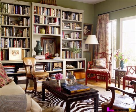 Decorating A Home Library by Homegoods Bookshelves