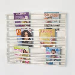 deluxe wall mount magazine rack contemporary magazine