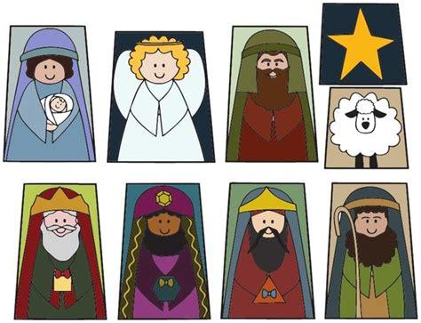 printable christmas belen printable finger puppet christmas nativity set in color or