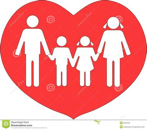 imagenes animadas de amor a la familia la familia uni 243 en amor foto de archivo imagen 8401840