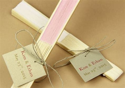 personalized paper hand fans 9 quot rose quartz paper hand fans for weddings premium paper