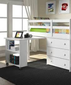 loft bed with storage white loft work storage bed