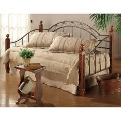 Daybed Furniture Camelot Iron Wood Daybed In Black Gold Cherry Humble