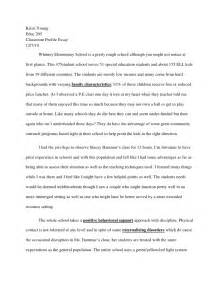 Writing Profile Essay by Classroom Profile Essay