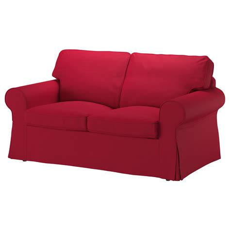 two sofas ektorp two seat sofa nordvalla red ikea