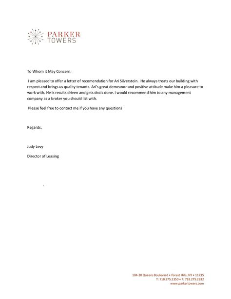 Reference Letter Template For Lease Reference Letter For Apartment Lease Cover Letter Templates