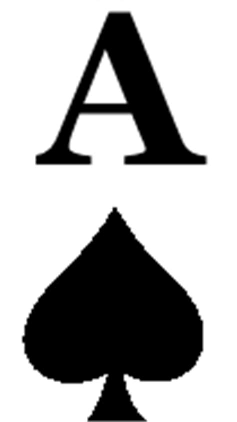 ace of spades card template spade symbol clipart best