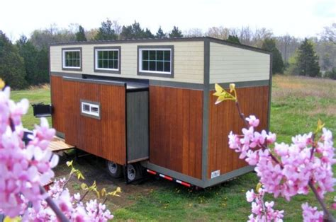 tiny house slide out baby boomer tiny house with slide outs