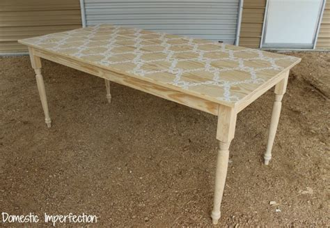 Stencil Table by Stenciled Farmhouse Table Country Living Magazine