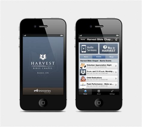 design app for iphone iministries iphone app rhyolite design graphic design