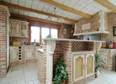 Brique Decoration by D 233 Coration Cuisine Brique