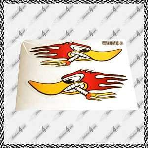 Racing Duck Aufkleber by Mini Hot Rod Go Kart Fibreglass Body Shell