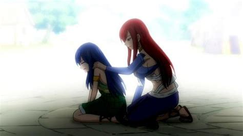 comfort characters post an anime character comforting another anime character